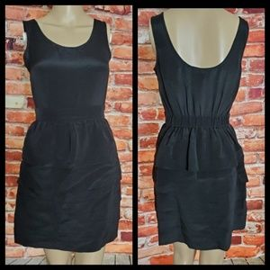 Anlo Black Silk Dress Size Small